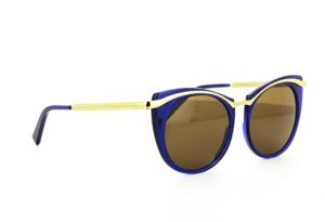 lunettes de soleil bleue vintage